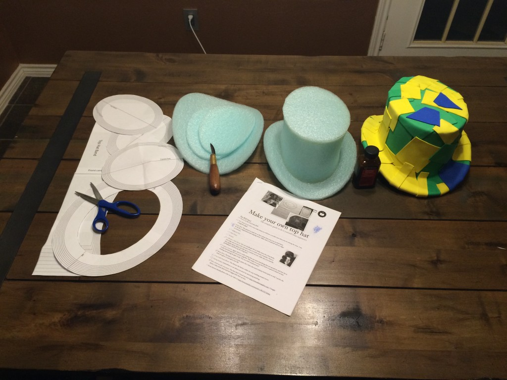 Steps to SteamPunk Top Hat (Part 1)